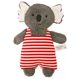 Alimrose Koala Toy Rattle Red Stripe 23cm