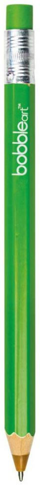 Bobble Art Green Wooden Pencil Pen