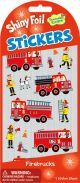 Firetrucks Shiny Foil Stickers