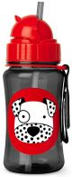 Skip Hop Dax Dalmatian Zoo Straw Bottle 350ml